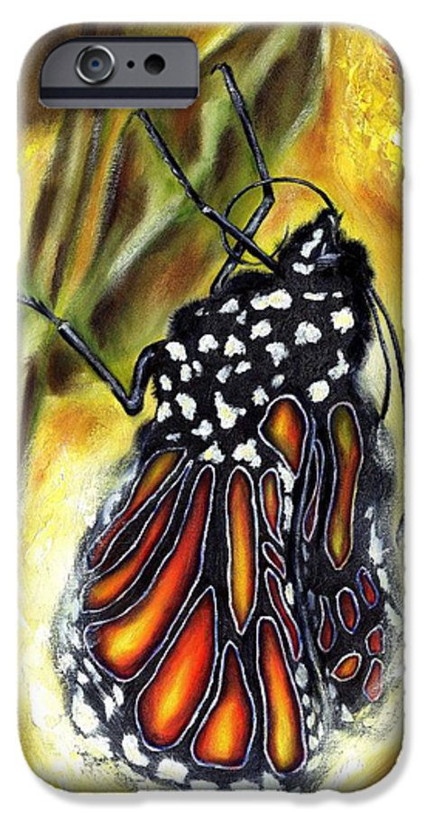 Butterfly IPhone 6 Case featuring the painting Metamorphosis by Hiroko Sakai