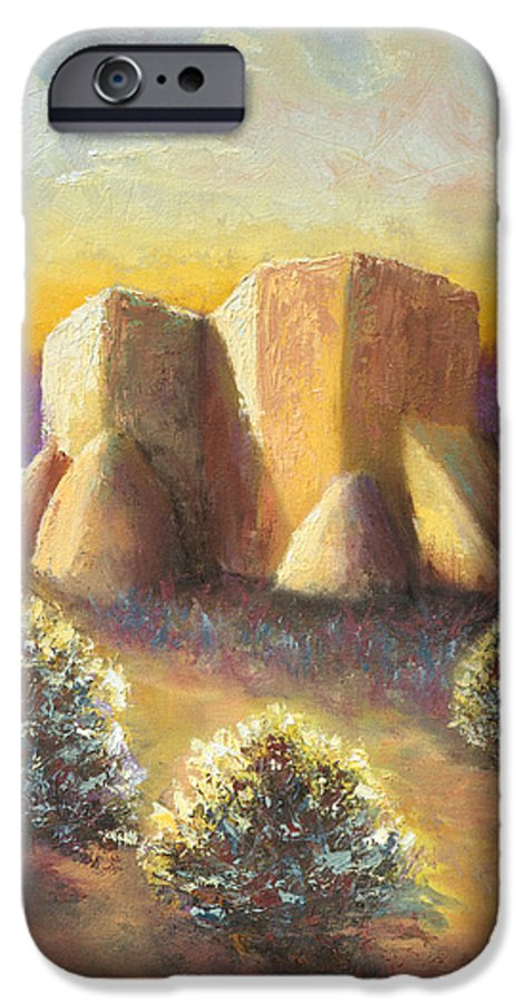 Landscape IPhone 6 Case featuring the painting Mission Imagined by Jerry McElroy