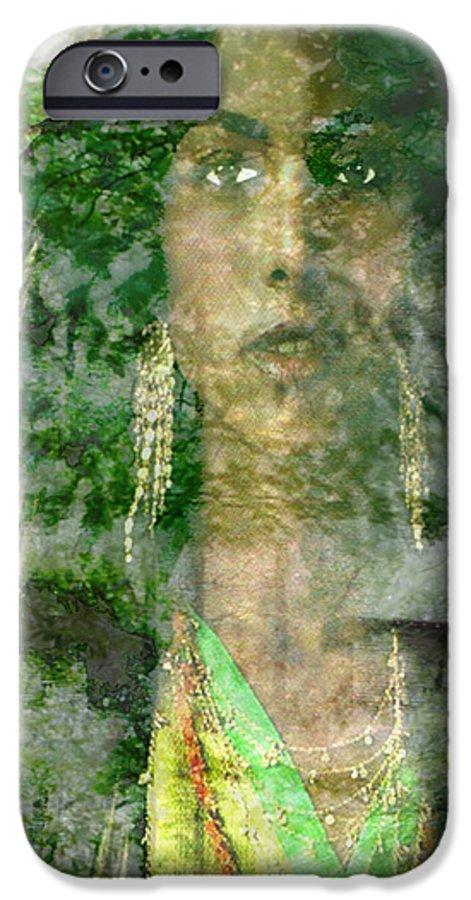 American Indian IPhone 6 Case featuring the digital art Mistress Of The Wind by Seth Weaver