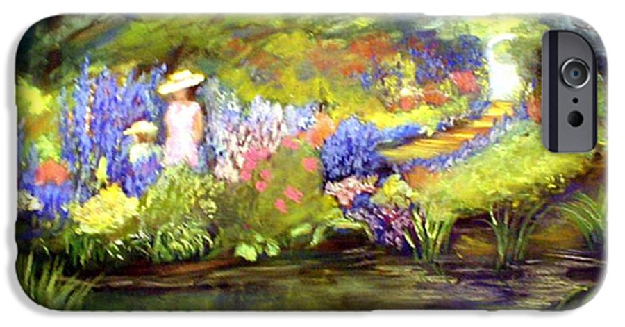 Flower Garden IPhone 6 Case featuring the painting Mother And Daughter by Gail Kirtz