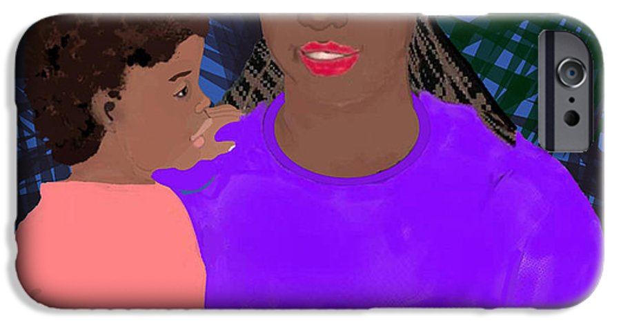 Mother IPhone 6 Case featuring the painting Mother And Daughter by Pharris Art