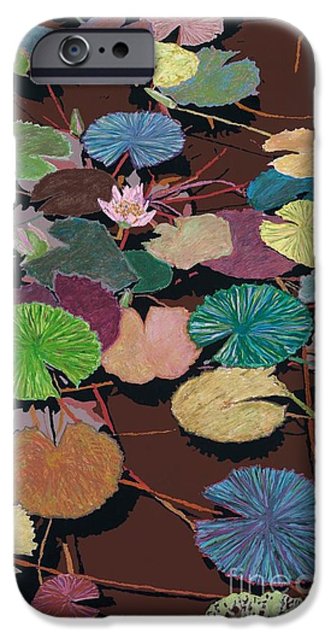 Landscape IPhone 6 Case featuring the painting Muddy Waters by Allan P Friedlander