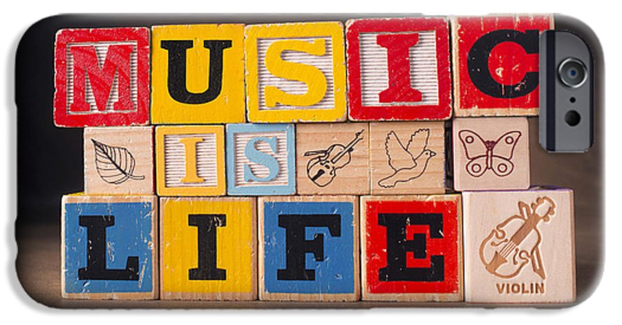 Music Is Life IPhone 6 Case featuring the photograph Music is Life by Art Whitton