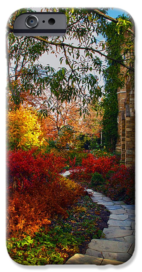 National Cathedral IPhone 6 Case featuring the photograph National Cathedral Path by Mitch Cat