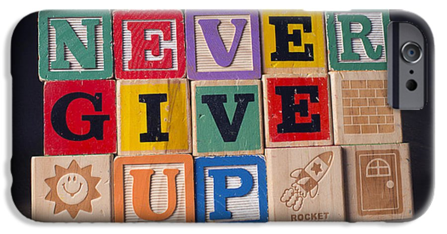 Never Give Up IPhone 6 Case featuring the photograph Never Give Up by Art Whitton