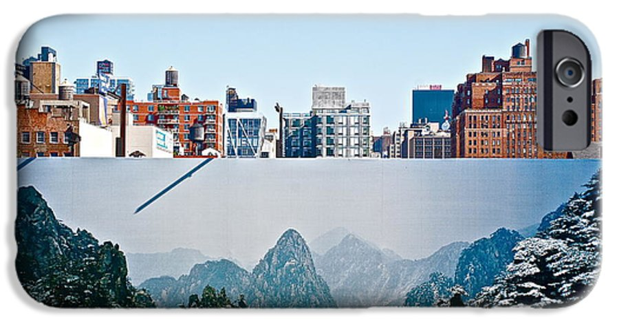 Lanscape IPhone 6 Case featuring the photograph New York Skyline by Aneurin Production