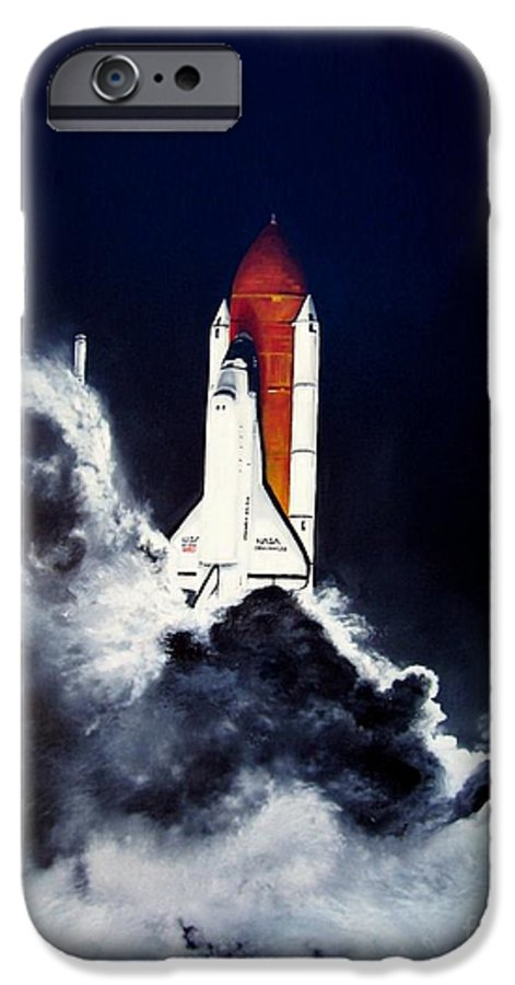 Oil IPhone 6 Case featuring the painting Night Launch by Murphy Elliott
