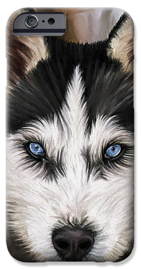 Dog Art IPhone 6 Case featuring the painting Nikki by David Wagner