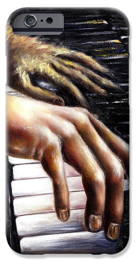 Piano IPhone 6 Case featuring the painting Nocturne by Hiroko Sakai