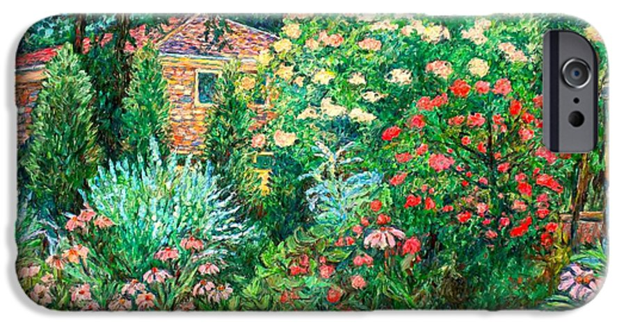 Garden IPhone 6 Case featuring the painting North Albemarle In Mclean Va by Kendall Kessler