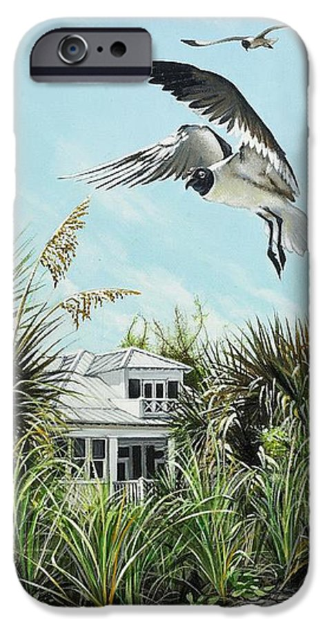 Bird IPhone 6 Case featuring the painting North Shore Landing by Joan Garcia
