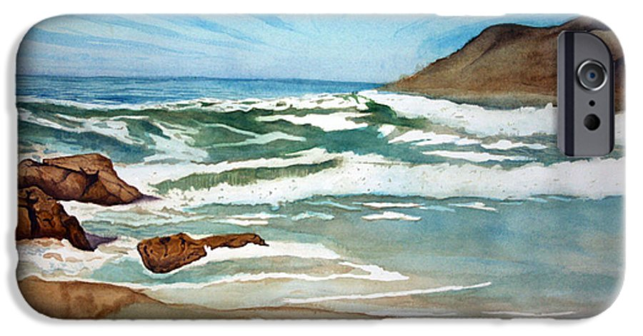 Rick Huotari IPhone 6 Case featuring the painting Ocean Side by Rick Huotari