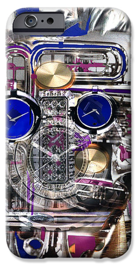 Robotic Time Traveller IPhone 6 Case featuring the digital art Old Blue Eyes by Seth Weaver