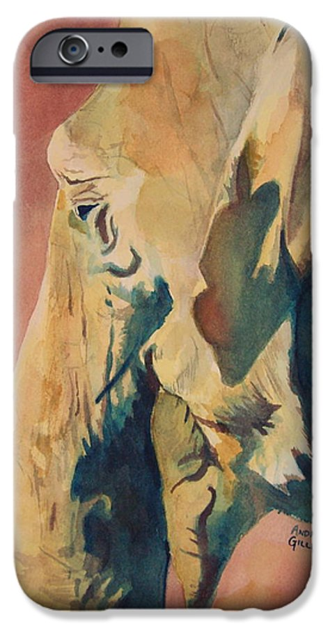 Elephant IPhone 6 Case featuring the painting Old Elephant by Andrew Gillette