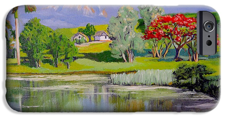 Oil IPhone 6 Case featuring the painting Old Farm by Jose Manuel Abraham