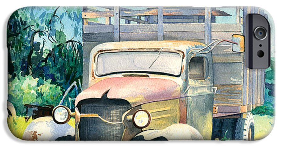 Water Color IPhone 6 Case featuring the painting Old Kula Truck by Don Jusko