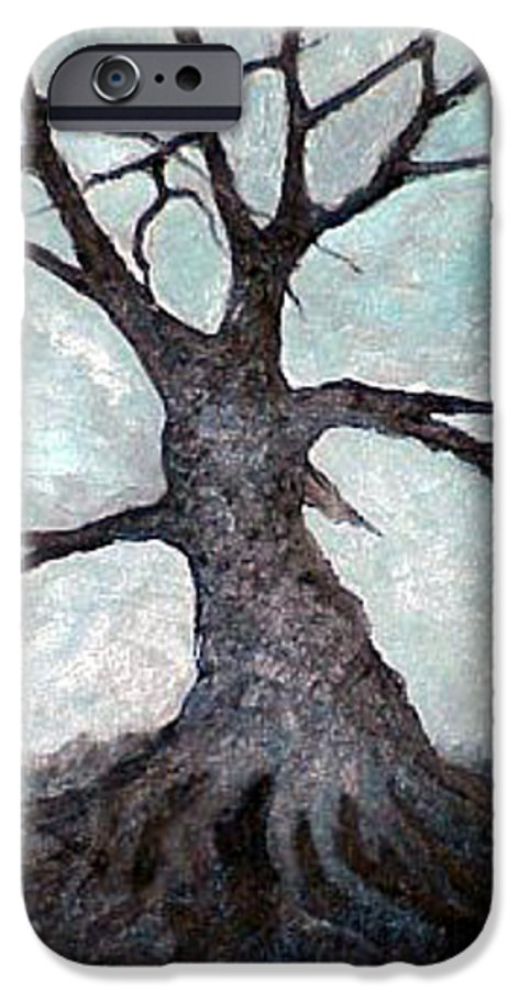 Landscape IPhone 6 Case featuring the painting Old Tree by Sergey Bezhinets