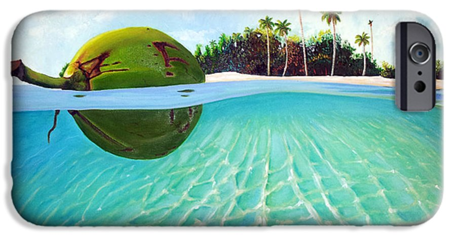 Coconut IPhone 6 Case featuring the painting On The Way by Jose Manuel Abraham