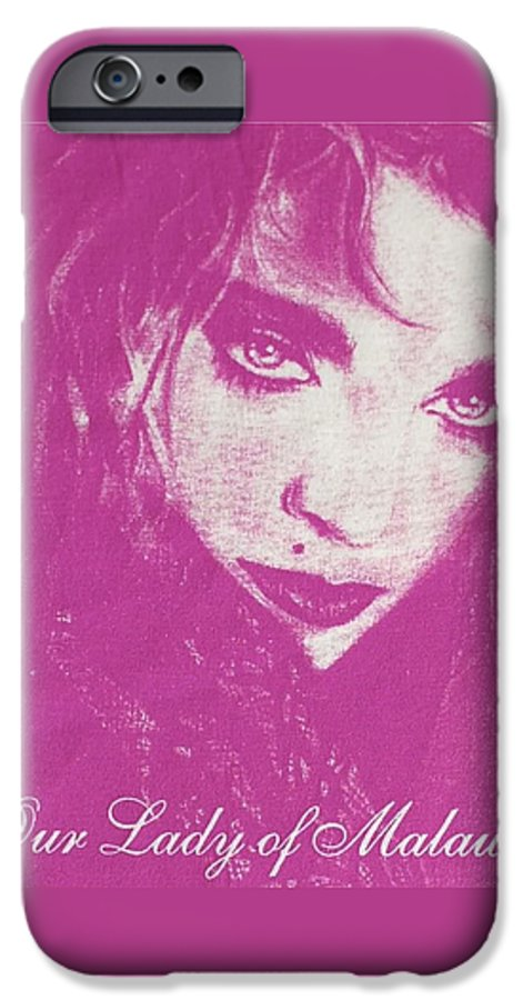 Madonna IPhone 6 Case featuring the drawing Our Lady Of Malawi Madonna by Ayka Yasis