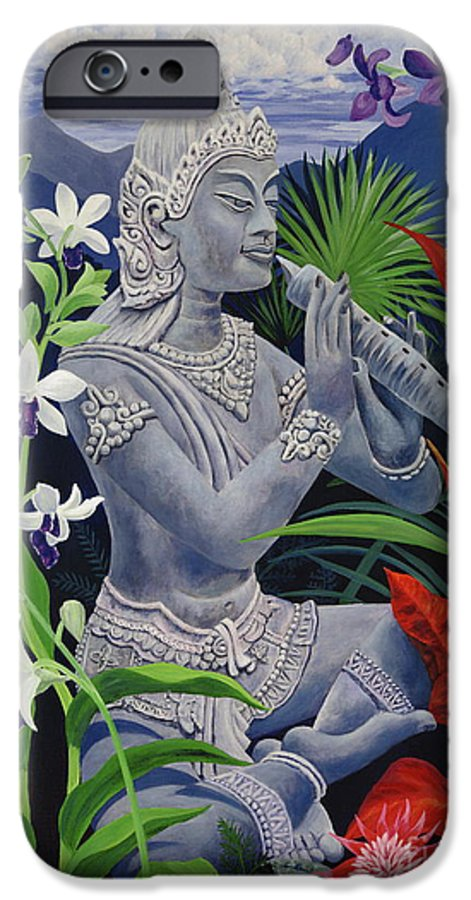 Buddah IPhone 6 Case featuring the painting Out Of The Blue by Danielle Perry