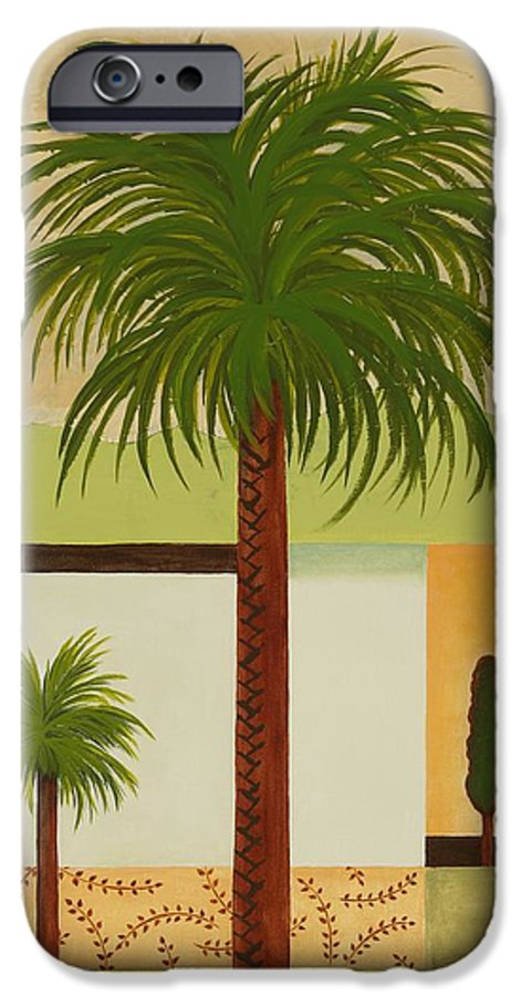 Palm Trees IPhone 6 Case featuring the painting Palm Desert by Carol Sabo