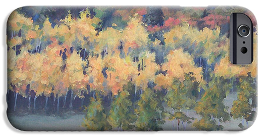Landscape IPhone 6 Case featuring the painting Park City Meadow by Philip Fleischer