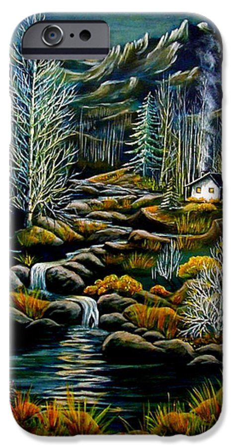 Mountains IPhone 6 Case featuring the painting Peaceful Seclusion by Diana Dearen