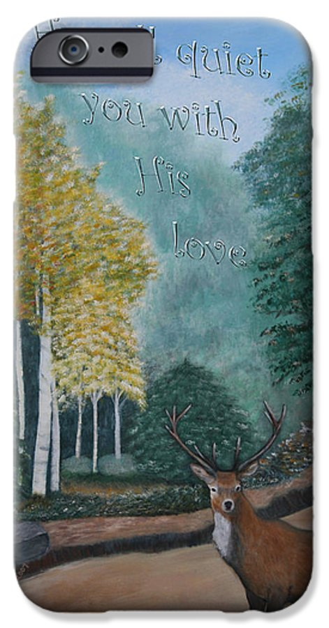 Landscape IPhone 6 Case featuring the painting Peaceful Walk by Mary Grabill