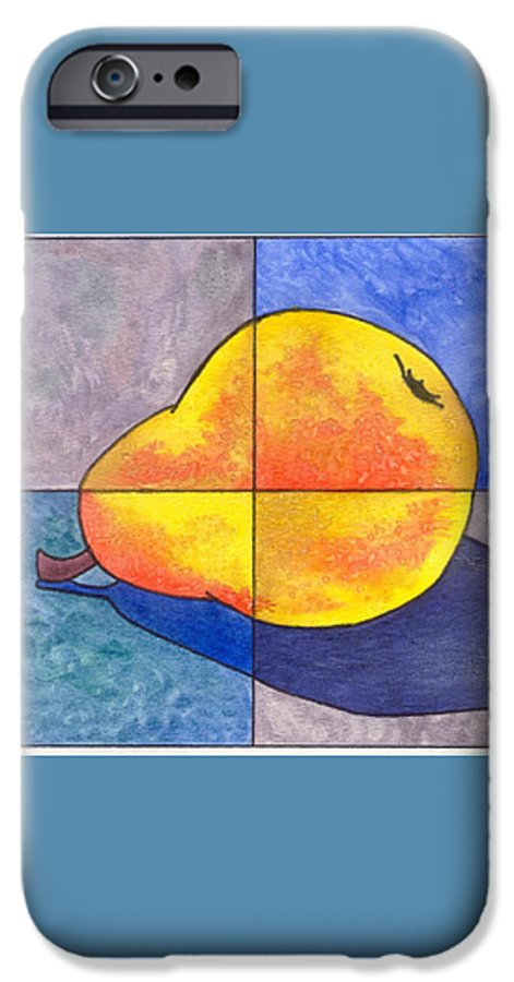 Pear IPhone 6 Case featuring the painting Pear I by Micah Guenther