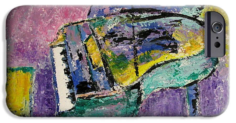 Impressionist IPhone 6 Case featuring the painting Piano Green by Anita Burgermeister