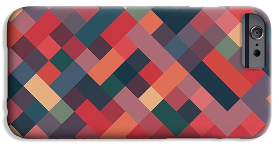 Abstract IPhone 6 Case featuring the digital art Pixel Art by Mike Taylor
