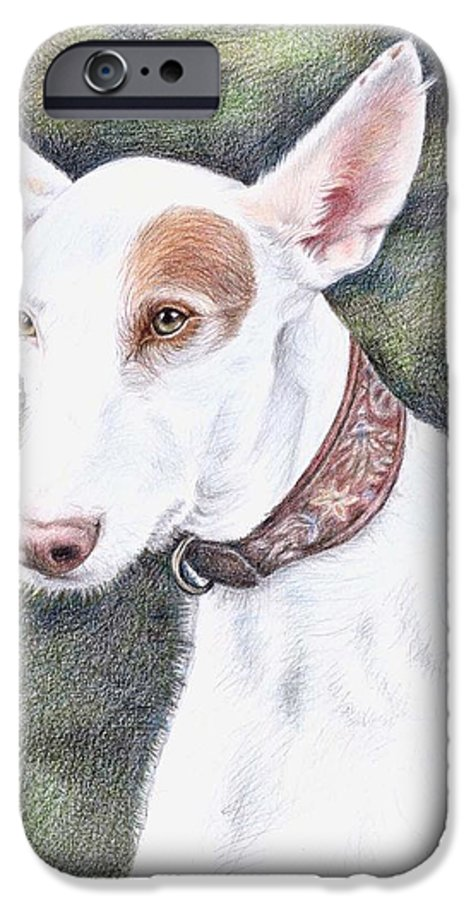 Dog IPhone 6 Case featuring the drawing Podenco Ibicenco by Nicole Zeug