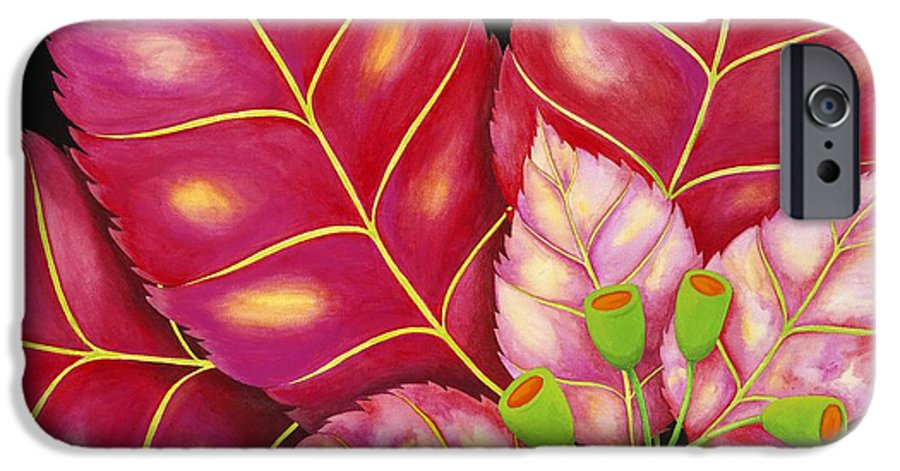 Acrylic IPhone 6 Case featuring the painting Poinsettia by Carol Sabo