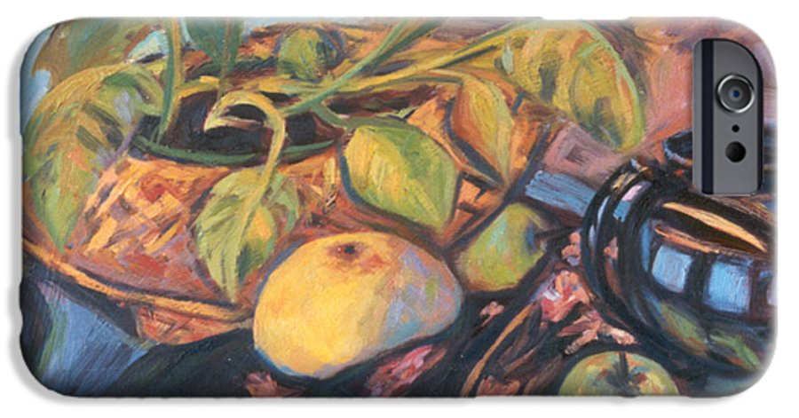 Still Life IPhone 6 Case featuring the painting Pollys Plant by Kendall Kessler