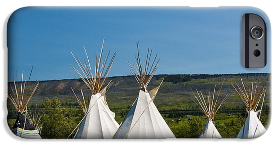 Powwow Teepees Of The Blackfoot Tribe By Glacier National Park No  3095  IPhone 6 Case