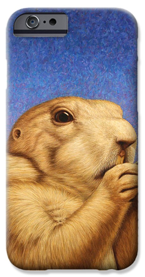 Prairie Dog IPhone 6 Case featuring the painting Prairie Dog by James W Johnson