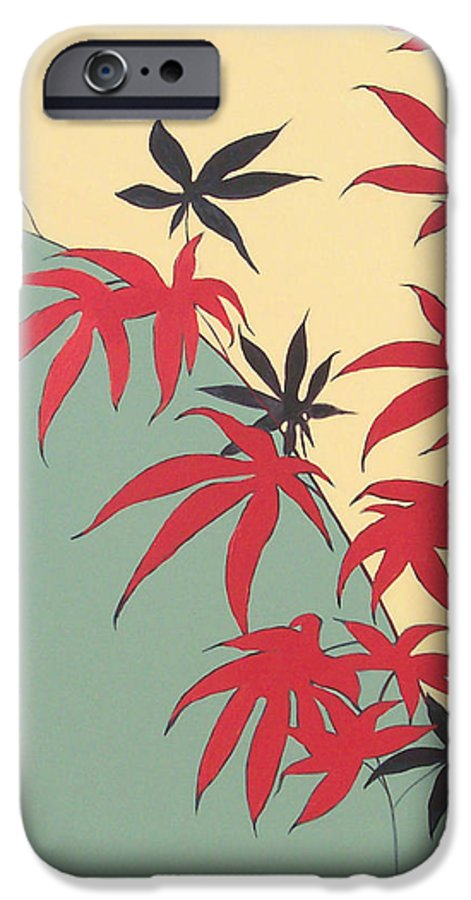 Bamboo IPhone 6 Case featuring the painting Psycho Wabbits by Philip Fleischer
