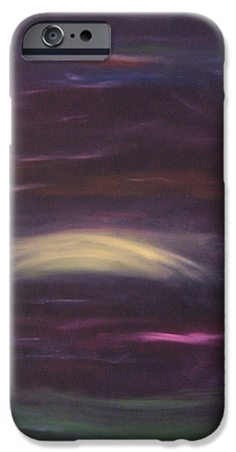 Purple IPhone 6 Case featuring the painting Purple Night by Lindsay Clark