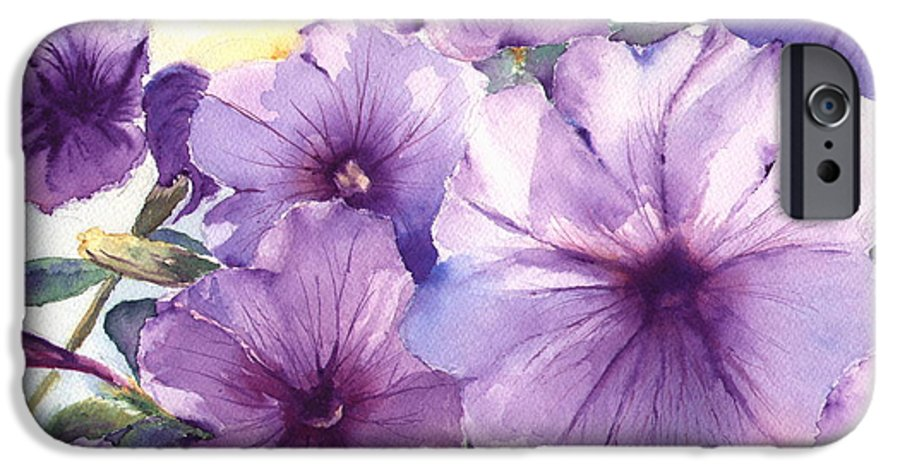 Purple IPhone 6 Case featuring the painting Purple Profusion by Patricia Henderson