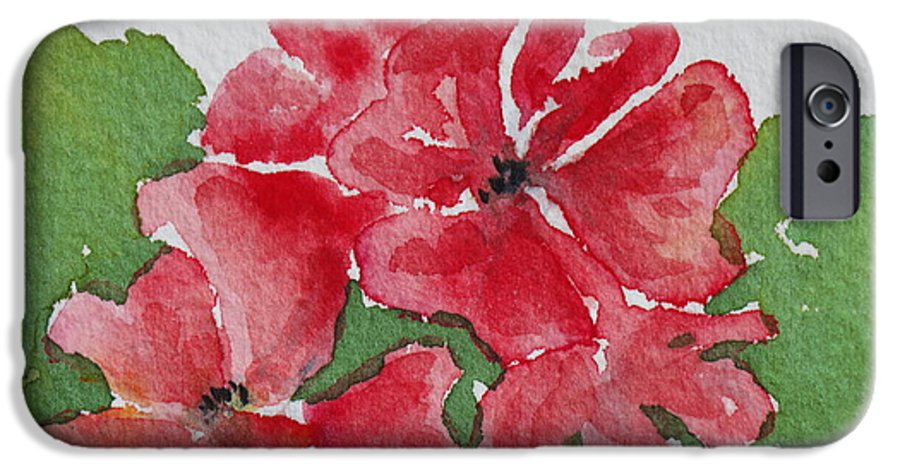 Floral IPhone 6 Case featuring the painting Pzzzazz by Mary Ellen Mueller Legault