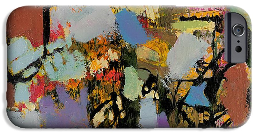 Landscape IPhone 6 Case featuring the painting Quick Racing by Allan P Friedlander