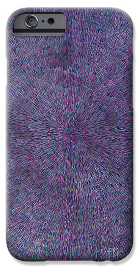 Abstract IPhone 6 Case featuring the painting Radiation Violet by Dean Triolo