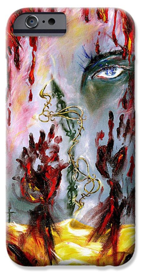 Rain IPhone 6 Case featuring the painting Rain by Hiroko Sakai