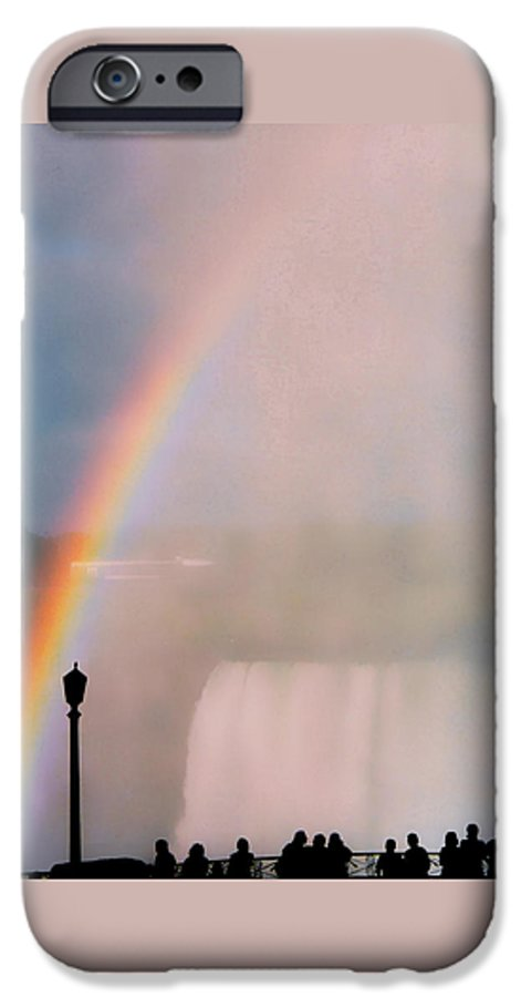 Rainbow IPhone 6 Case featuring the photograph Rainbow Falls by Pharris Art