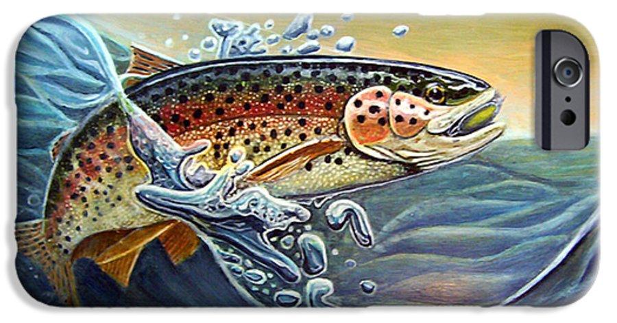 Rick Huotari IPhone 6 Case featuring the painting Rainbow by Rick Huotari