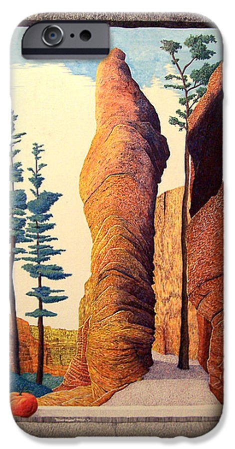 Landscape IPhone 6 Case featuring the painting Reared Window by A Robert Malcom