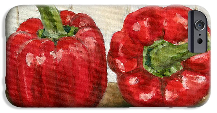 Food IPhone 6 Case featuring the painting Red Pepper by Sarah Lynch