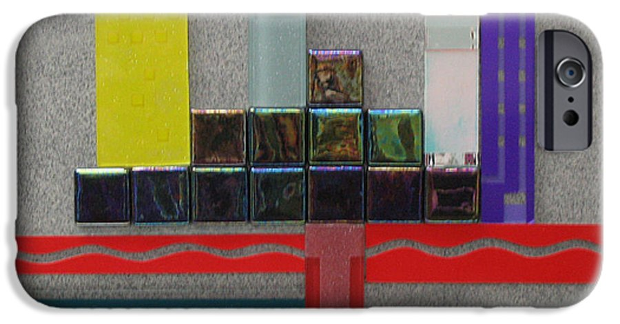 Assemblage IPhone 6 Case featuring the relief Red River City by Elaine Booth-Kallweit
