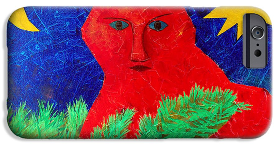 Fantasy IPhone 6 Case featuring the painting Red by Sergey Bezhinets