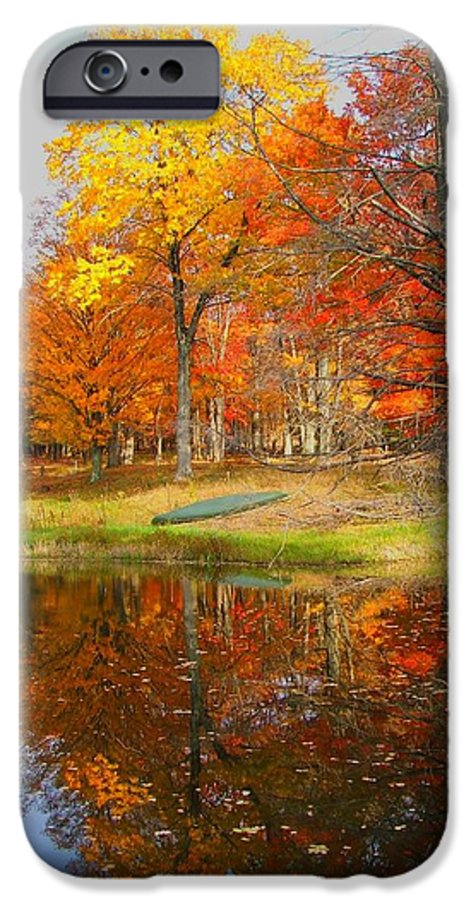 Fall IPhone 6 Case featuring the photograph Reflections Of Autumn by Judy Waller